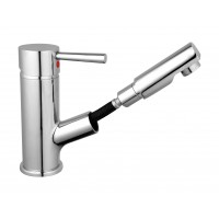 Sanifun Schütte CORNWALL basin mixer with pull-out aerator, chrome