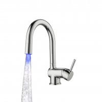 Sanifun Schütte STELLA sink mixer with high spout and LED-attachment, chrome