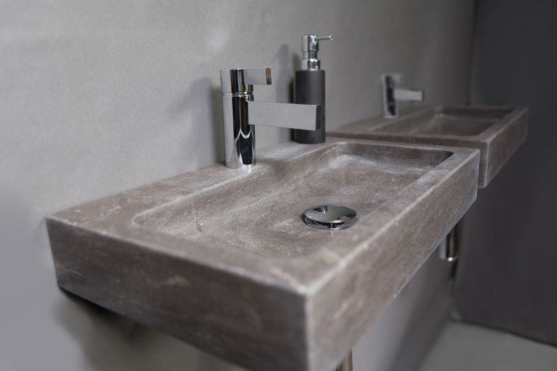 Stijlvolle badkamer dankzij hardsteen sanitair blog online sanitair