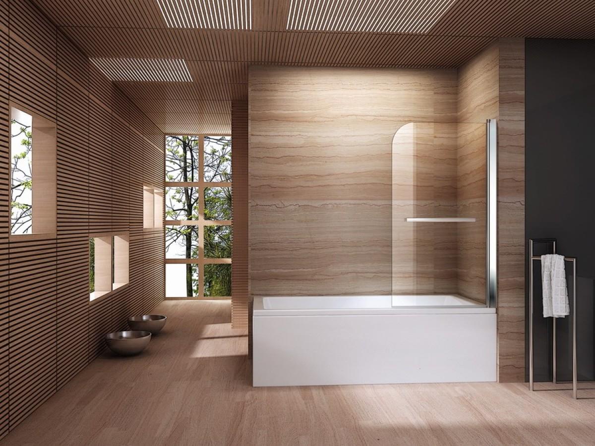 Badkamermeubel Met Badklapwand : Een inklapbare badwand maakt van het bad een douchecabine blog sanifun