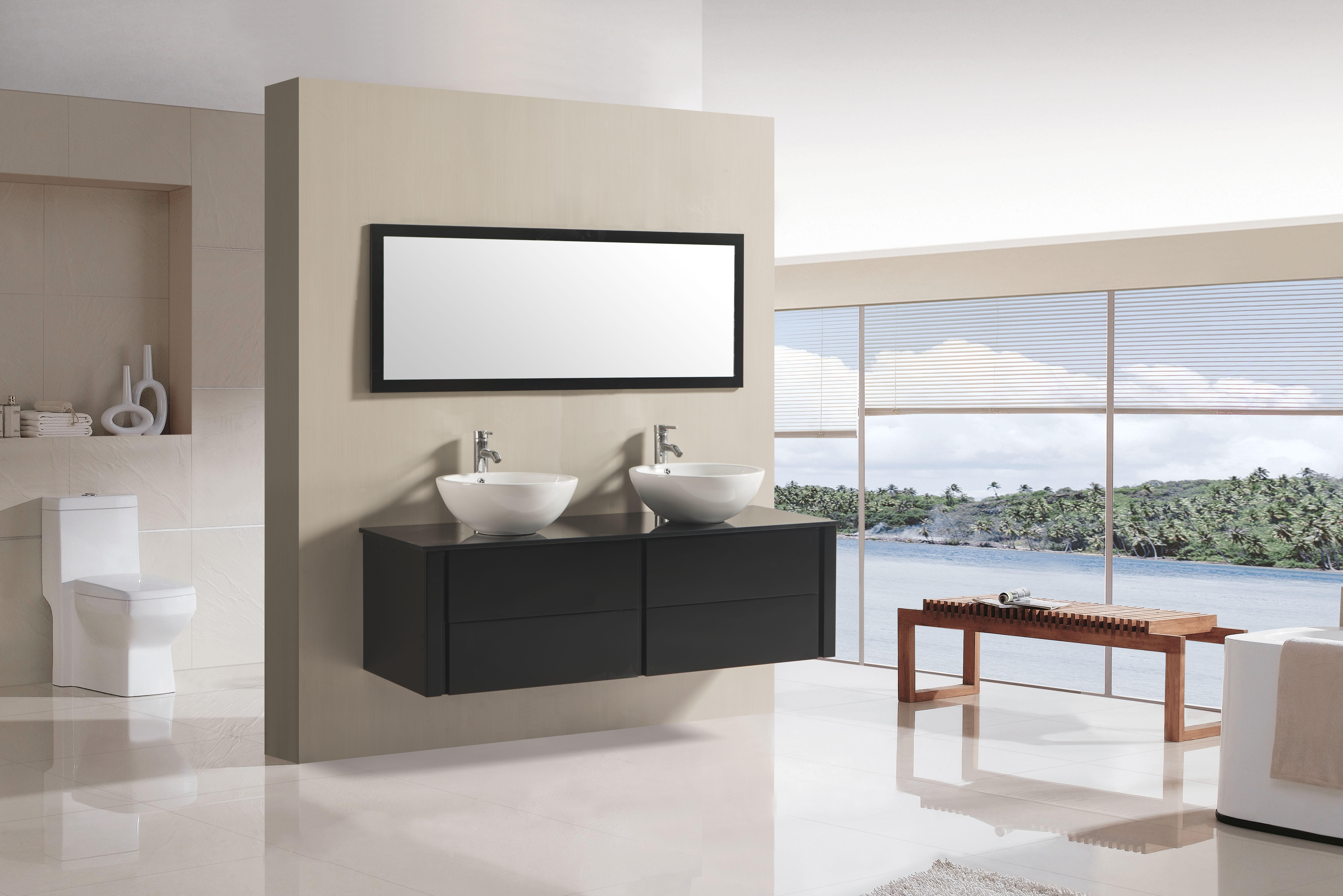 Zwevend badkamermeubel in een kleine badkamer   Online Sanitair