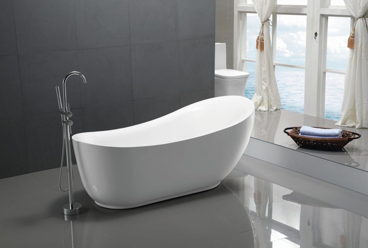Badkamer Vrijstaand Bad : Halfvrijstaande baden o de voordeligste badkamer specialist
